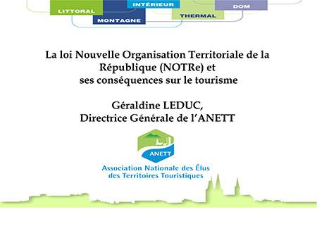 Pr�sentation rencontres du thermalisme 2015 Loi NoTRE