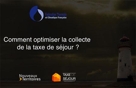 Pr�sentation rencontres du thermalisme 2015 Perception de la taxe de s�jour
