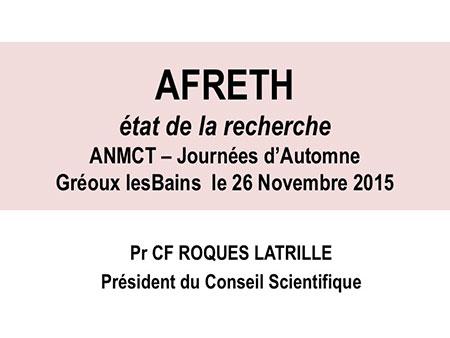 Pr�sentation rencontres du thermalisme 2015 AFRETh, etat de la recherche en 2015
